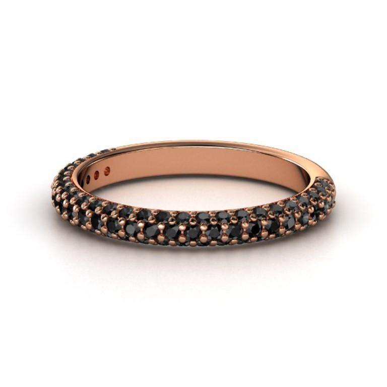14k-rose-gold-ring-with-black-diamond 50 Non-Traditional Black Diamond Rose Gold Engagement Rings