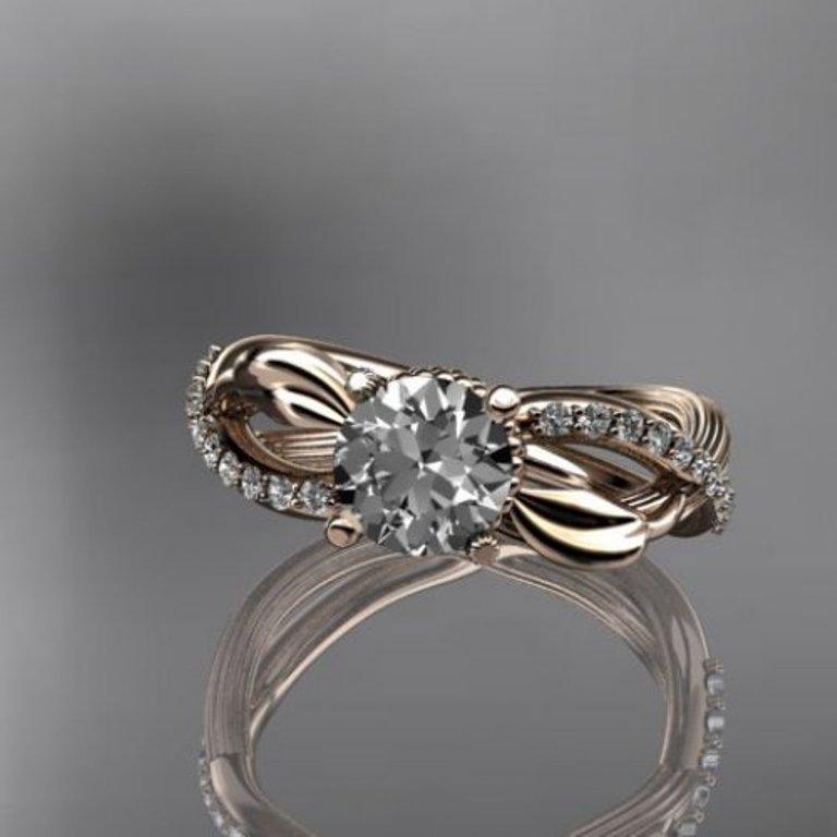 14kt_rose_gold_diamond_leaf_and_vine_wedding_ring_engagement_ring_____ffc3d18f Top 60 Stunning & Marvelous Rose Gold Wedding Bands