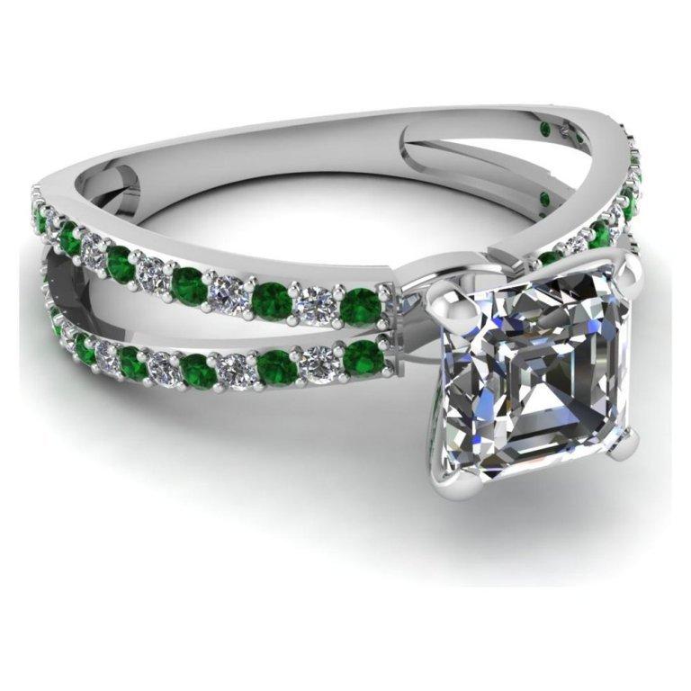 1637901811871383 30 Fascinating & Dazzling Green diamond rings