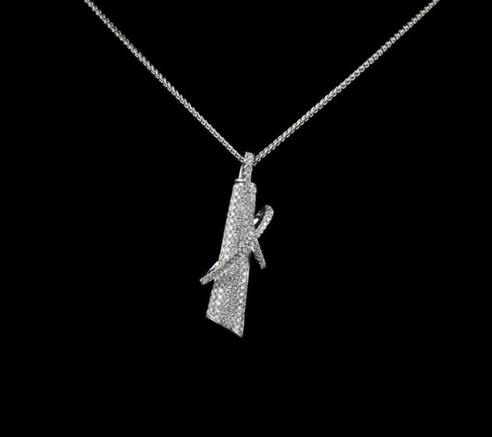 18k_White_Gold_Unusual_Pave_Diamond_Pendant_Necklace 50 Unique Diamond Necklaces & Pendants