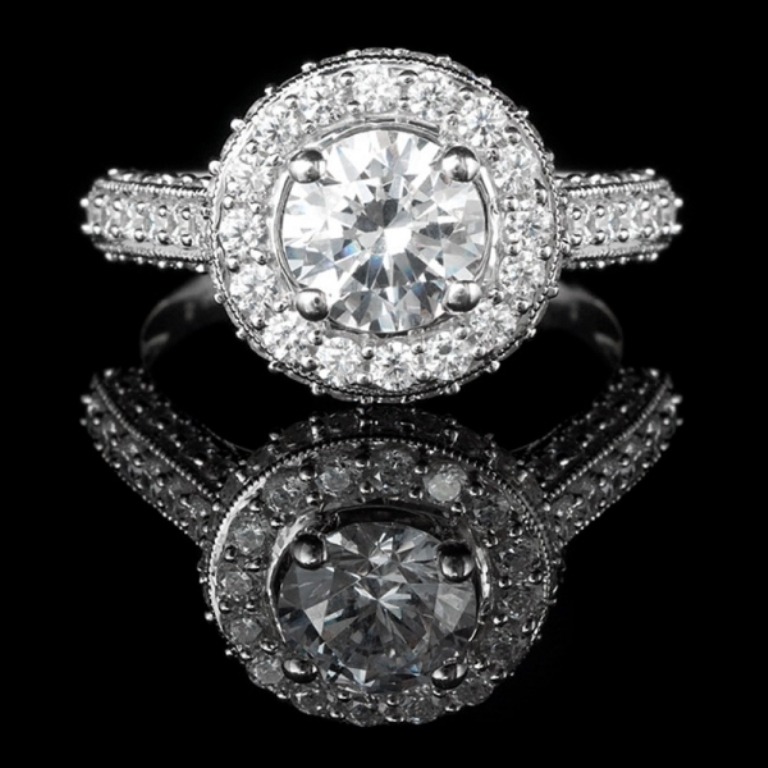 2-1-3-ctw-round-cut-diamond-engagement-ring-in-14k-white-gold 50 Unique Vintage Classic Diamond Engagement Rings