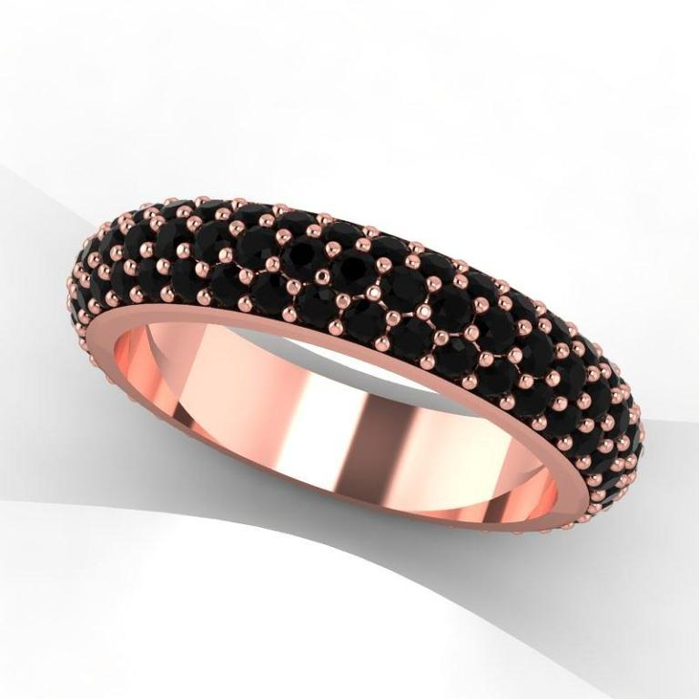 2-14k-rose-gold-black-diamond-eternity-band-eternity-collection 50 Non-Traditional Black Diamond Rose Gold Engagement Rings