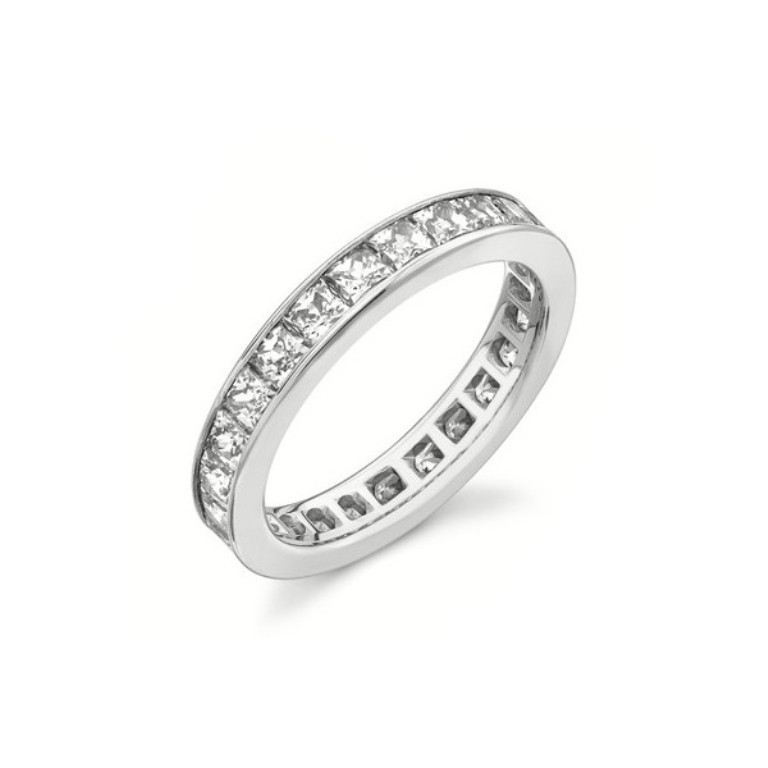 2-carat-eternity-princess-cut-diamond-wedding-band 60 Breathtaking & Marvelous Diamond Wedding bands for Him & Her