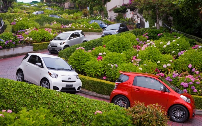 2012-Scion-iQ-Lombard-Street 55 Most Fascinating & Weird Roads Like These Before?