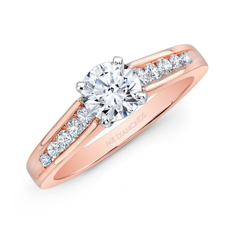 25865-r_three_qrtr Top 70 Dazzling & Breathtaking Rose Gold Engagement Rings