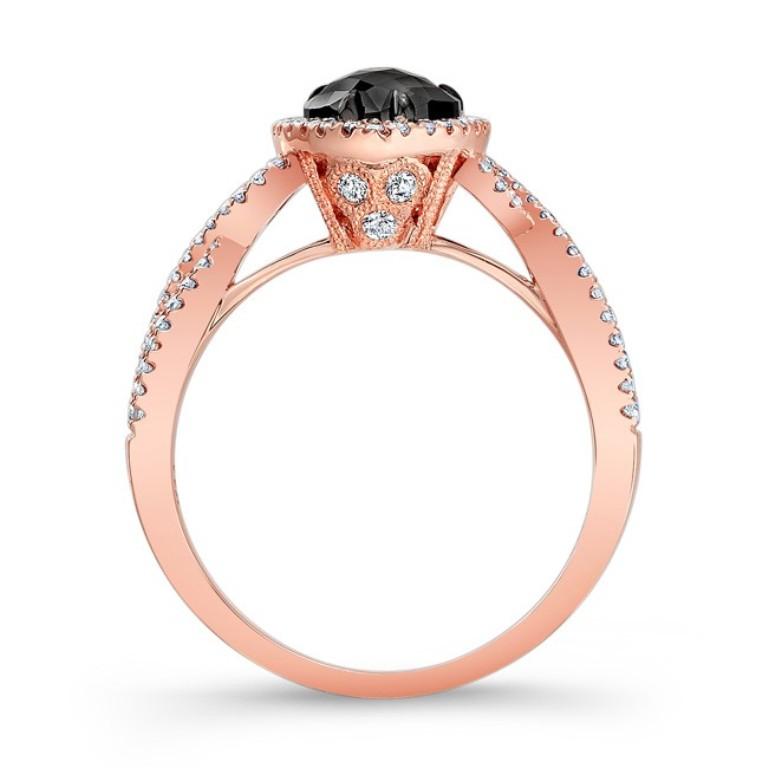 28471bkrc-r_profile 50 Non-Traditional Black Diamond Rose Gold Engagement Rings