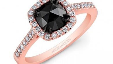 Photo of 50 Non-Traditional Black Diamond Rose Gold Engagement Rings