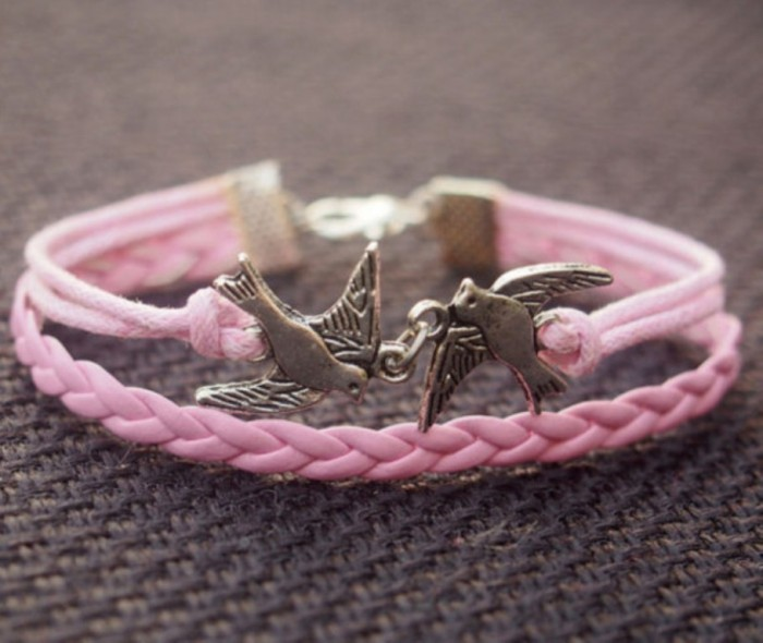 2aorv1-l-610x610-jewels-bracelet-silver-birds-bracelet-pink-bracelet-leather-bracelet-love-birds-bracelet-women-bracelet-charm-bracelet-jewelry-men-bracelet1 Show Your Endless Love to Your Lover with These Unique Cuffs & Bracelets of Love