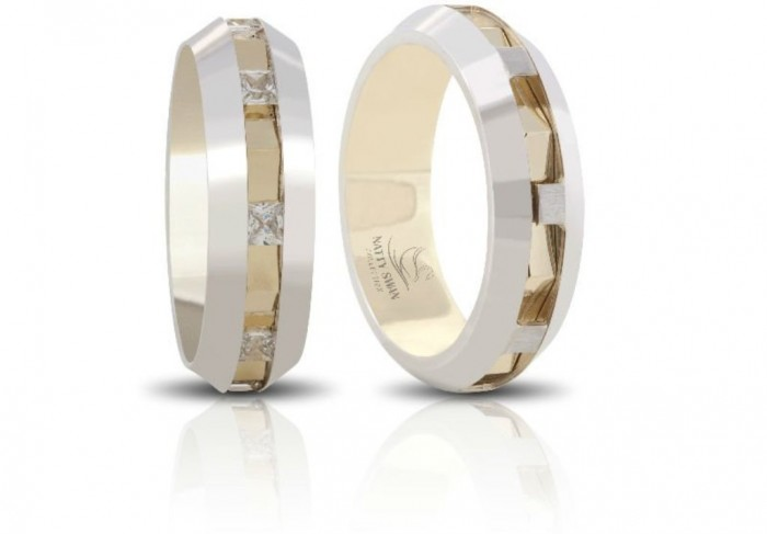 3_Wedding_Ring_Wedding_Band_combines_14_Carat_Gold 60 Unbelievable Ceramic Wedding Bands for Him & Her