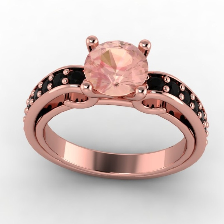 3adda0bf9981b8f2351a8633d9437ae8 50 Non-Traditional Black Diamond Rose Gold Engagement Rings