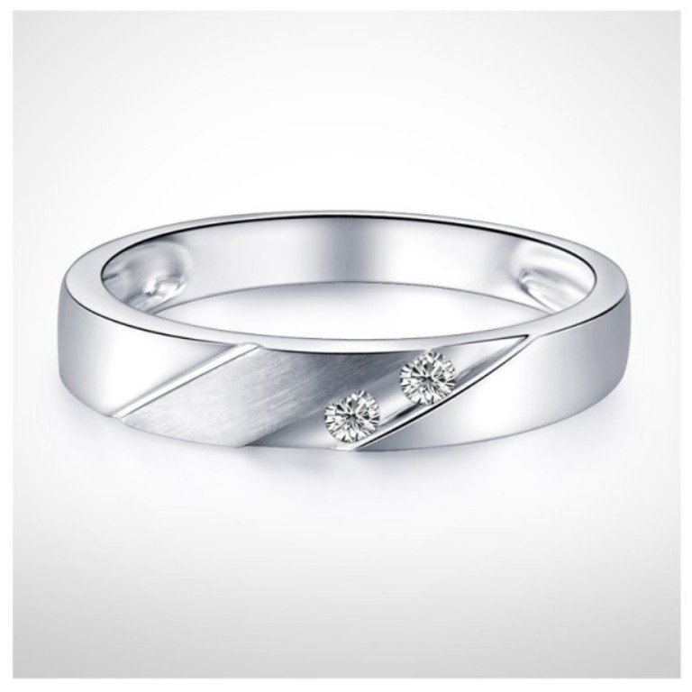 3mm-men-diamond-wedding-band-on-10k-white-gold 60 Breathtaking & Marvelous Diamond Wedding bands for Him & Her