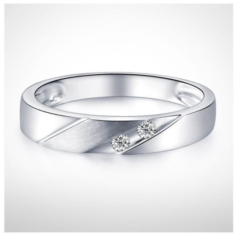 3mm-men-diamond-wedding-band-on-10k-white-gold 60 Breathtaking & Marvelous Diamond Wedding bands for Him & Her