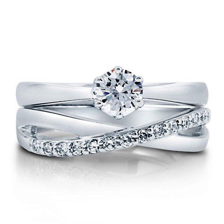415a0Y0C1OL 35 Dazzling & Catchy Bridal Wedding Ring Sets