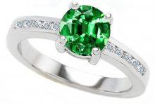 Photo of 30 Fascinating & Dazzling Green diamond rings