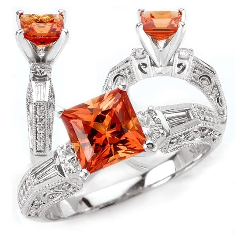 42573.1717091 40 Elegant Orange Sapphire Rings for Different Occasions