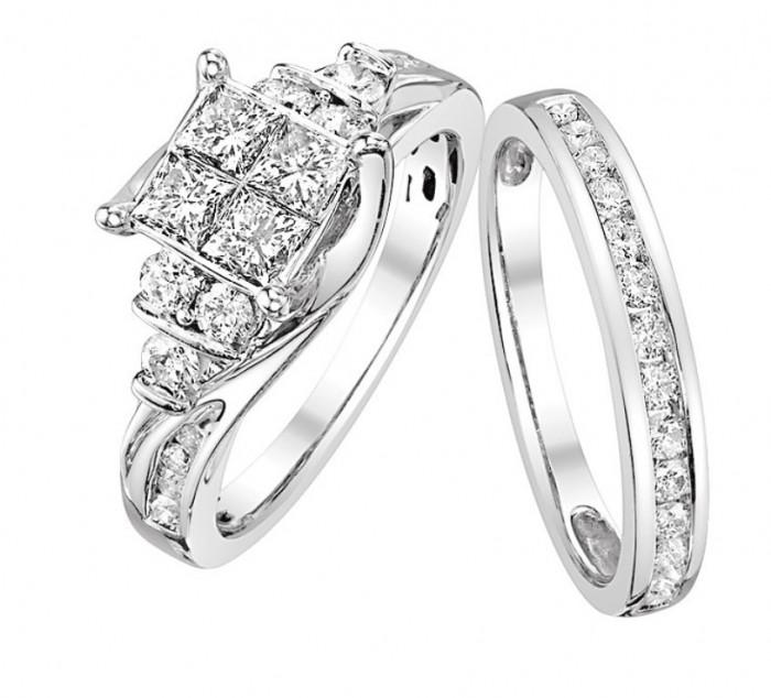 459-12498 35 Dazzling & Catchy Bridal Wedding Ring Sets