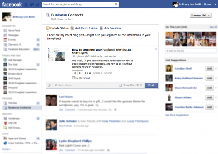4facebook-business-contacts Top 10 Facebook Tips that May Be Unknown to You
