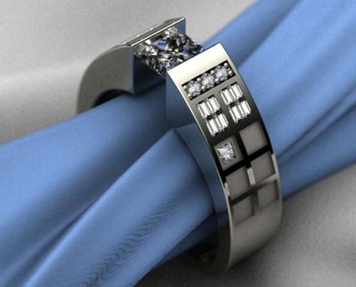 5-missed-stones 40 Unique & Unusual Wedding Rings for Him & Her