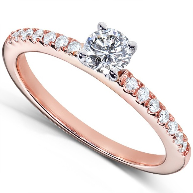 61613r-40e_b-2 Top 70 Dazzling & Breathtaking Rose Gold Engagement Rings