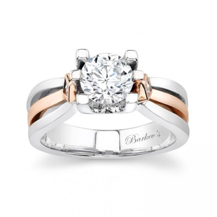 6682L Top 70 Dazzling & Breathtaking Rose Gold Engagement Rings