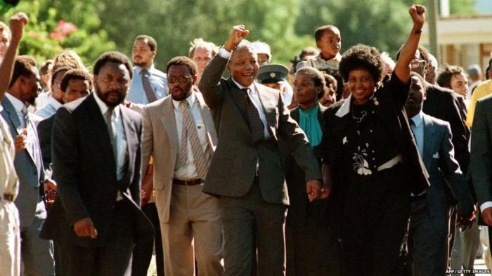"68105020_prison_release_11feb90_afpgetty The Anti-apartheid Icon "" Nelson Mandela "" Who Restored His People's Pride"