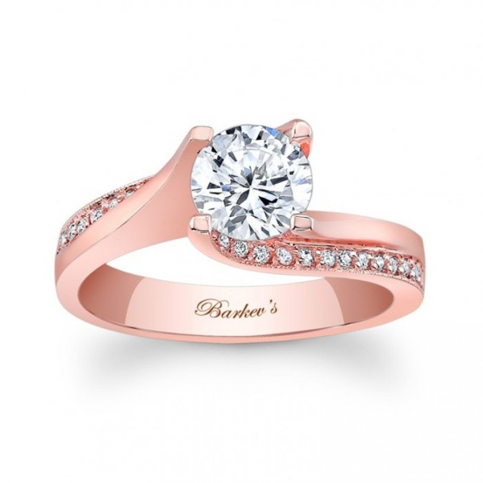 7171lp_front Top 70 Dazzling & Breathtaking Rose Gold Engagement Rings