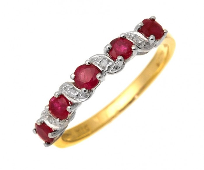 71WYkXFXjTL._SL1500_ 55 Fascinating & Marvelous Ruby Eternity Rings