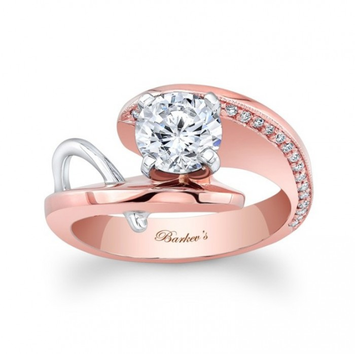 7619lt_front2__68404_zoom Top 60 Stunning & Marvelous Rose Gold Wedding Bands