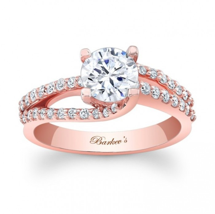 7677lp_front_2 Top 70 Dazzling & Breathtaking Rose Gold Engagement Rings