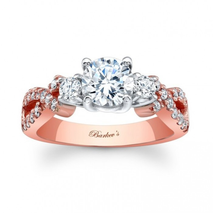 7682lp_1 Top 70 Dazzling & Breathtaking Rose Gold Engagement Rings