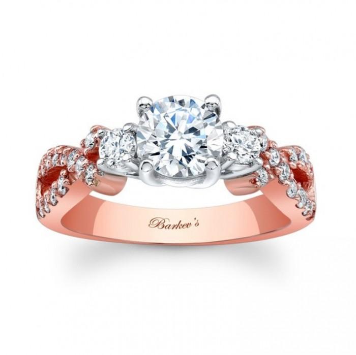 7682lp_1 Top 70 Dazzling & Breathtaking Rose Gold Engagement Rings