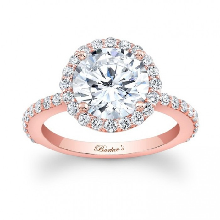 7839lp_front_1 Top 70 Dazzling & Breathtaking Rose Gold Engagement Rings