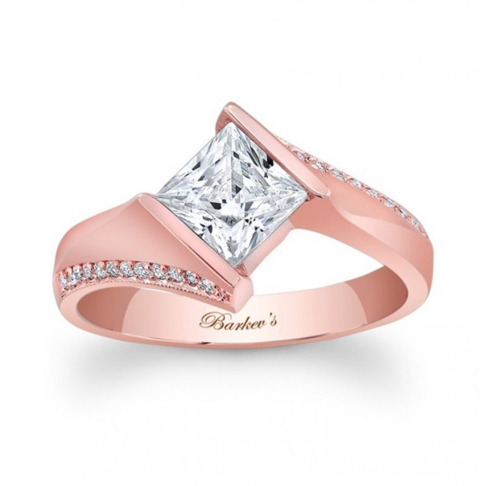 7840lp_front Top 70 Dazzling & Breathtaking Rose Gold Engagement Rings