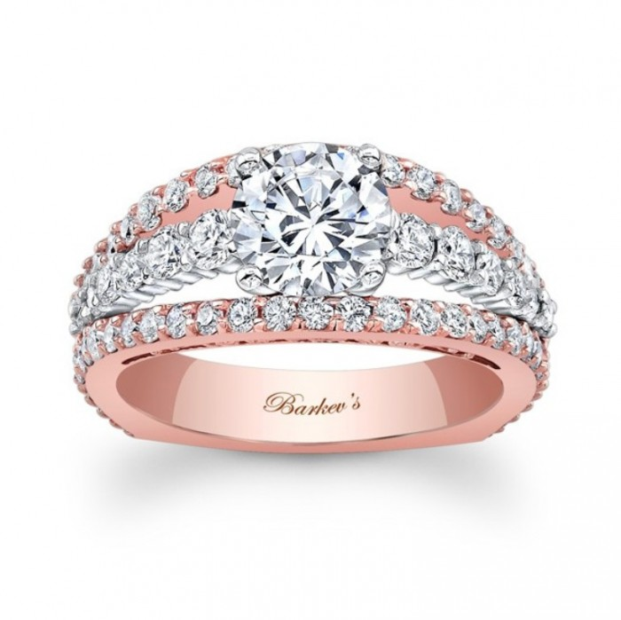 7896ltw_front Top 70 Dazzling & Breathtaking Rose Gold Engagement Rings