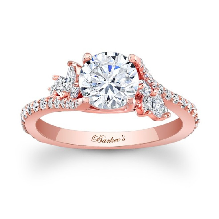 7908l_front Top 70 Dazzling & Breathtaking Rose Gold Engagement Rings
