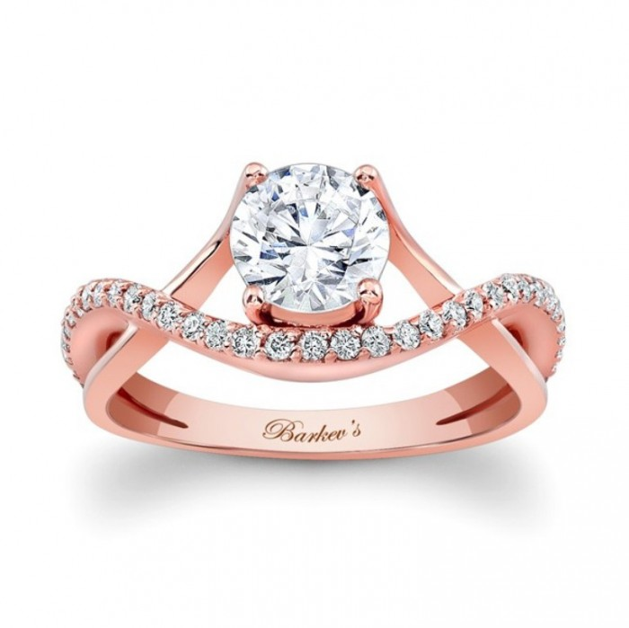7913lp_front Top 70 Dazzling & Breathtaking Rose Gold Engagement Rings