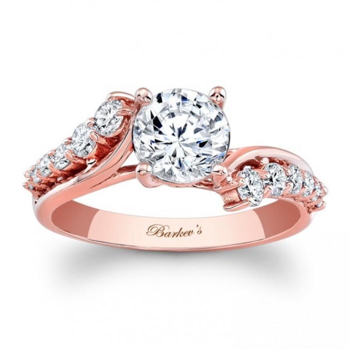 7926lpw_rose_gold_engagement_ring Top 70 Dazzling & Breathtaking Rose Gold Engagement Rings