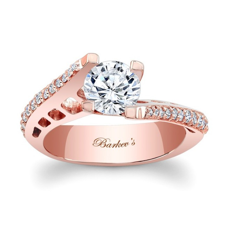 7927lpw_front Top 70 Dazzling & Breathtaking Rose Gold Engagement Rings