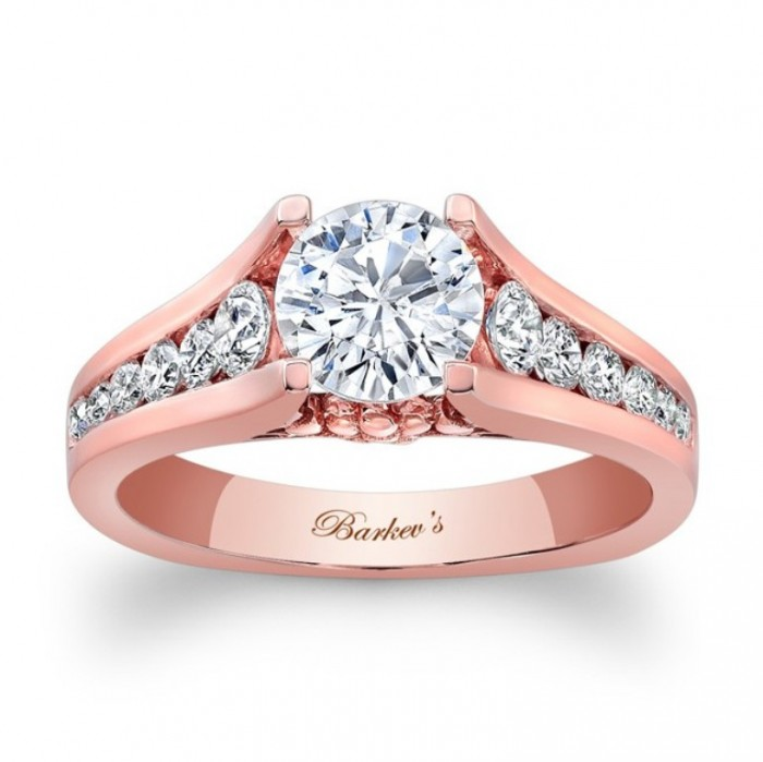 7940lpw_front Top 70 Dazzling & Breathtaking Rose Gold Engagement Rings