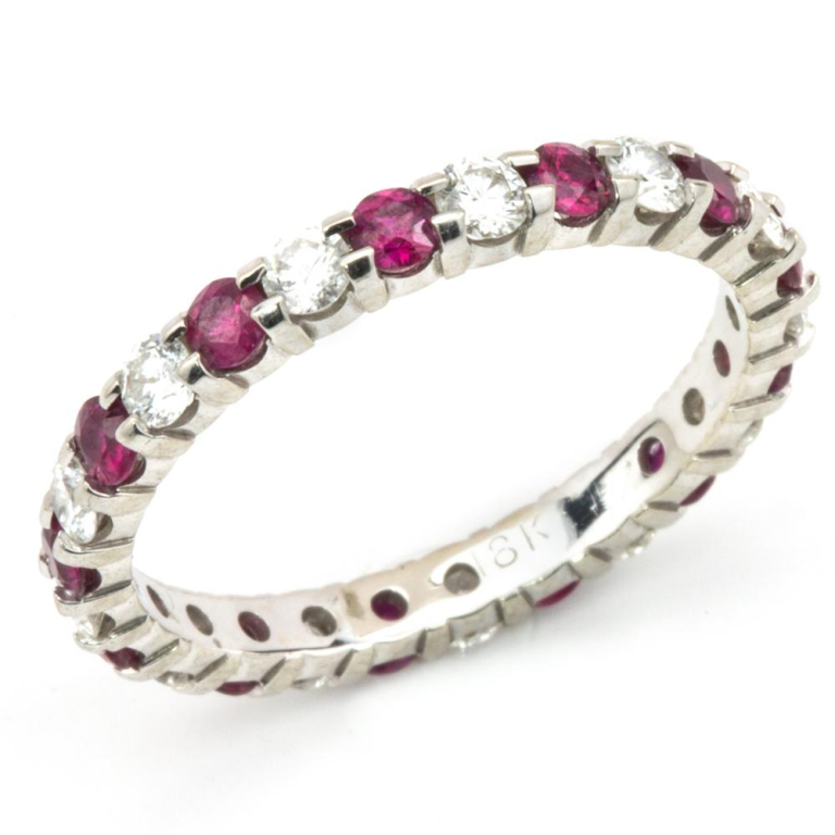 7d95820f426b43ccbec8b00e6d937849-1000x1000 55 Fascinating & Marvelous Ruby Eternity Rings