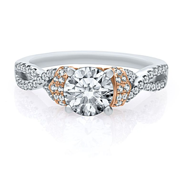 82979_helzburg-diamonds-artistetm-by-scott-kay-13-ct-tw-diamond-semi-mount-engagement-ring-in-14k-gold-1386350615-866 Top 70 Dazzling & Breathtaking Rose Gold Engagement Rings