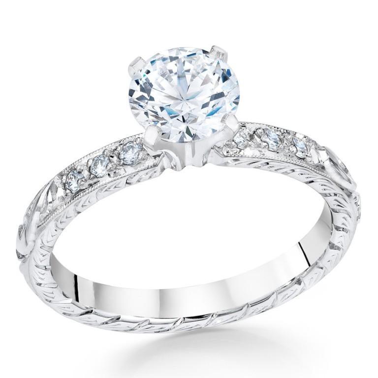 8326_1024x1024 35 Fabulous Antique Palladium Engagement Rings