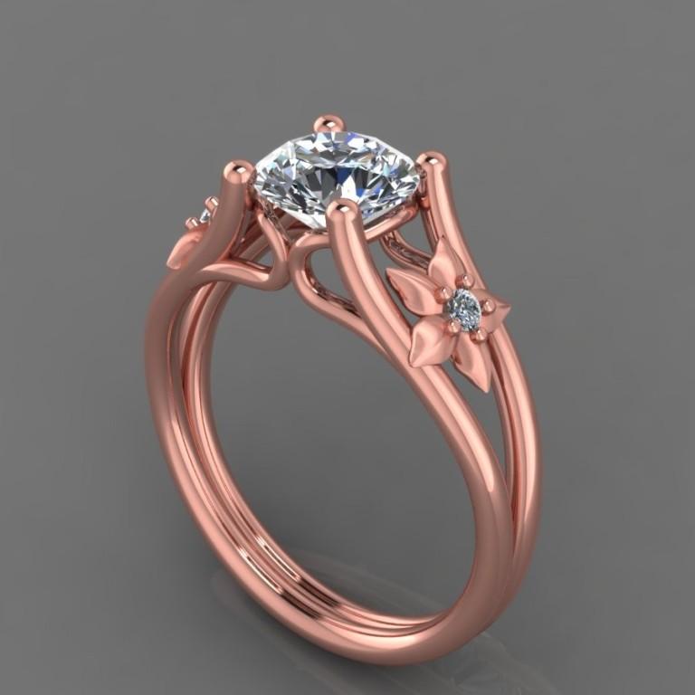 91rg-1 Top 70 Dazzling & Breathtaking Rose Gold Engagement Rings