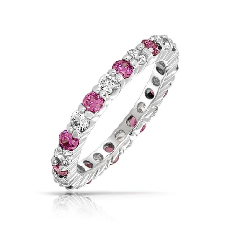 925-silver-pink-ruby-ring_dt-lr2650-r 55 Fascinating & Marvelous Ruby Eternity Rings