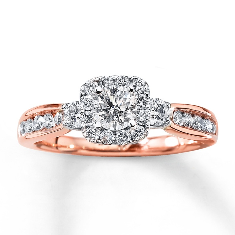 990868402_MV_ZM Top 70 Dazzling & Breathtaking Rose Gold Engagement Rings
