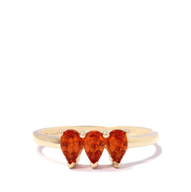 AFPS761 40 Elegant Orange Sapphire Rings for Different Occasions