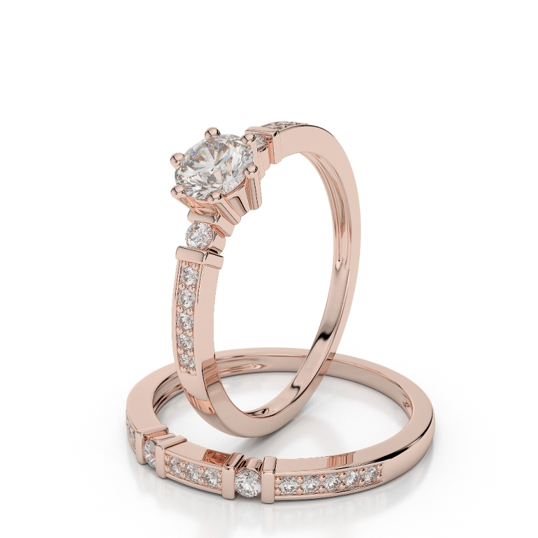 AGRBS1019 Top 60 Stunning & Marvelous Rose Gold Wedding Bands