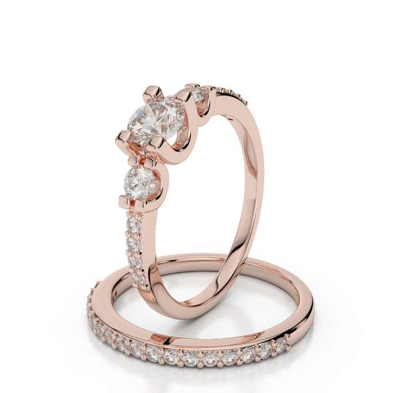 AGRBS1034 Top 60 Stunning & Marvelous Rose Gold Wedding Bands