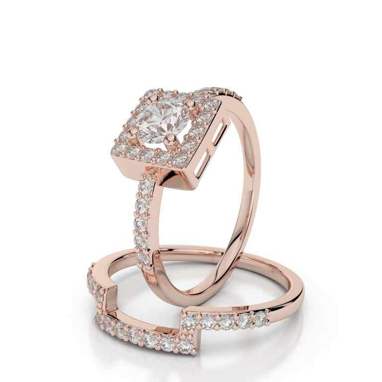 AGRBS1040 Top 60 Stunning & Marvelous Rose Gold Wedding Bands