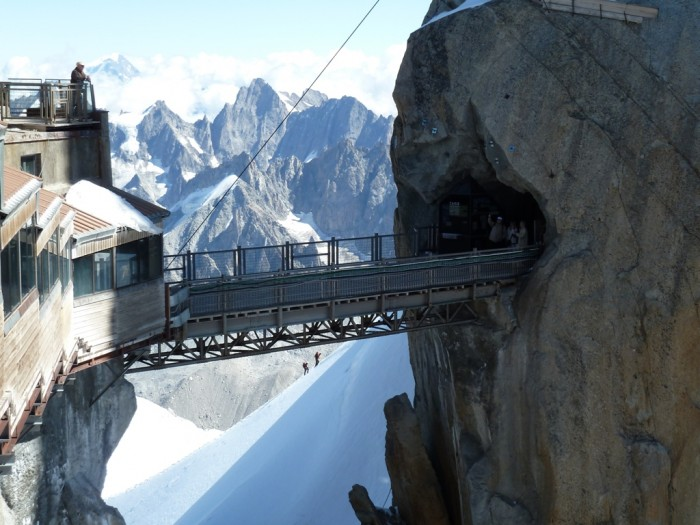 Aiguille-du-Midi-Bridge The World's 15 Scariest Bridges that Will Freeze Your Heart